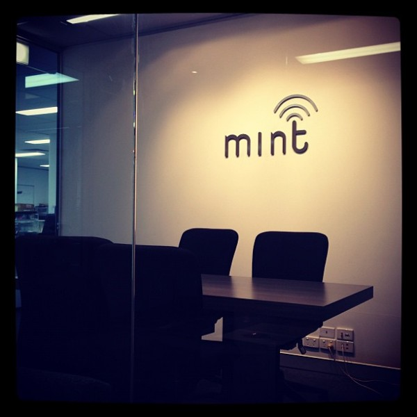 At the offices of Mint Wireless (which works in the mobile payments space)