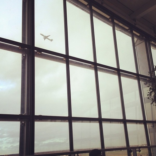 Watching planes take off at Heathrow...