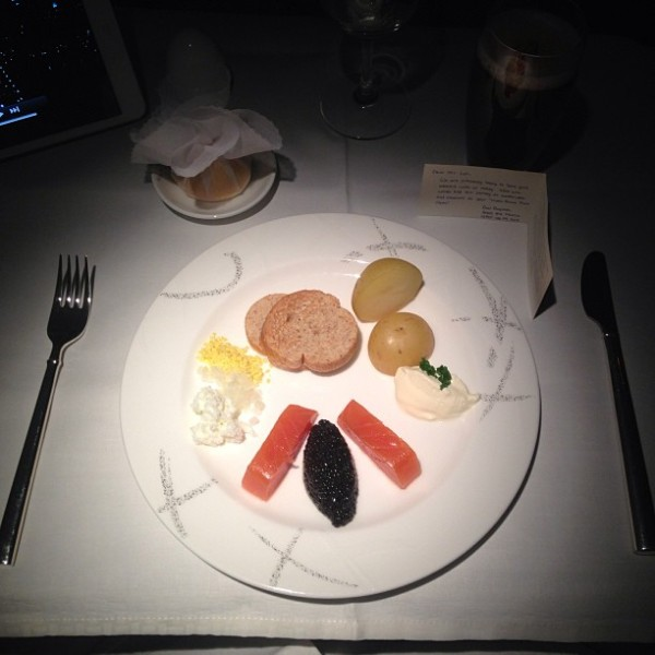 Plane food can sometimes be pretty good :)