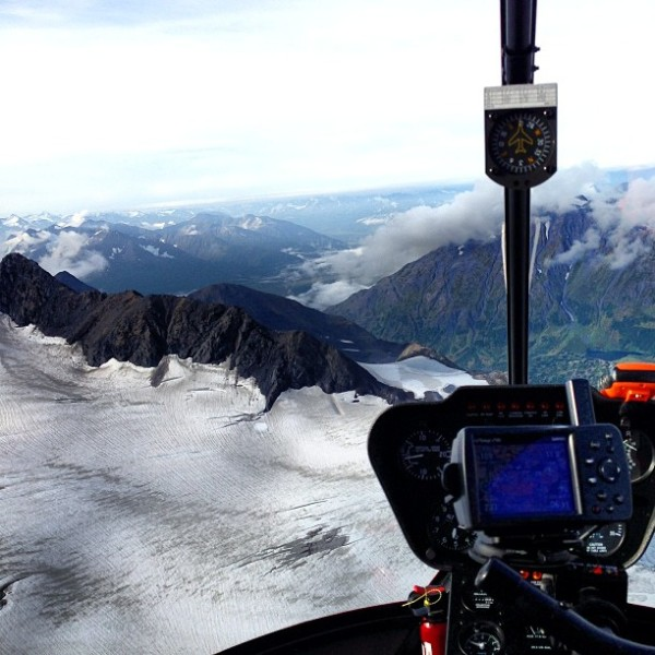 Chopper ride over the glaciers - Alaska's gorgeous!