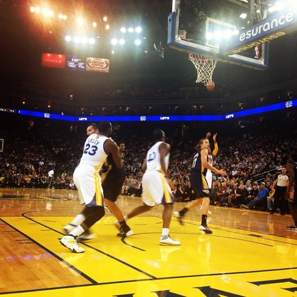 Warriors courtside!