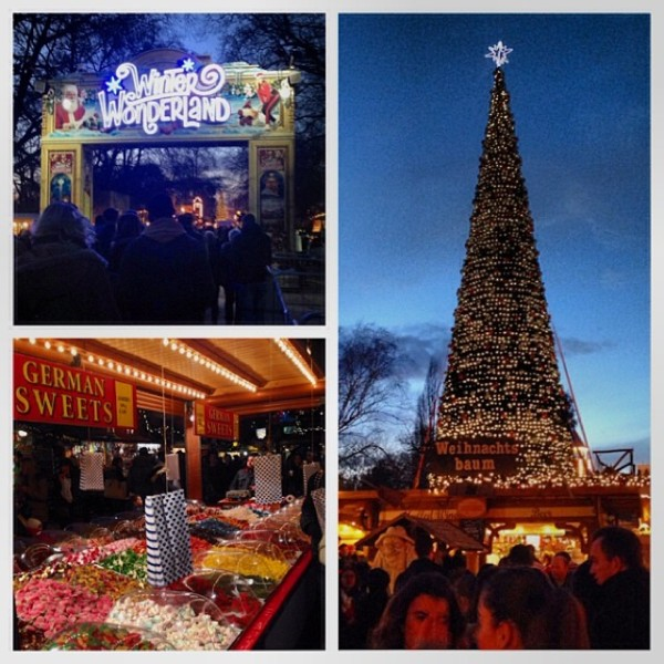 Winter Wonderland at Hyde Park - lots of German food there for some reason