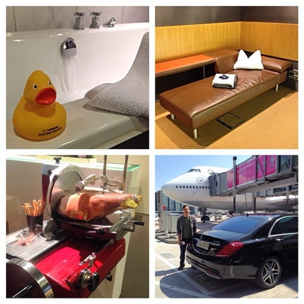 The LH First Class Terminal: nap rooms, a meat buzzsaw, chaffeured plane transfers, and rubber duckies
